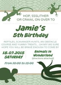 Jamie 5 Invite